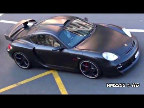 Matte Black TechArt Cayman GT Sport Loud Sound
