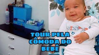 TOUR PELA CÔMODA DO BEBÊ | Carolina Reis | Mãe aos 19