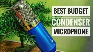 Best Budget Condenser Mic !😘  Good Audio No Phantom or Sound Card Needed !   From Amazon
