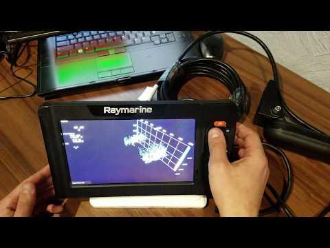 Raymarine Element 9HV первые впечатлени обзор.Датчик HV-100 с частотой 1.2 Мгц, HyperVision и 3D