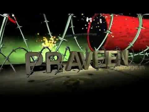 Praveen Titel Logo Animation as Blast Cracker