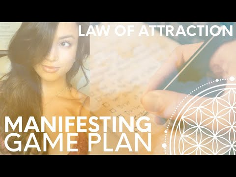 Create a Manifesting Game Plan + Set Your Goals! Organized Law of Attraction Technique