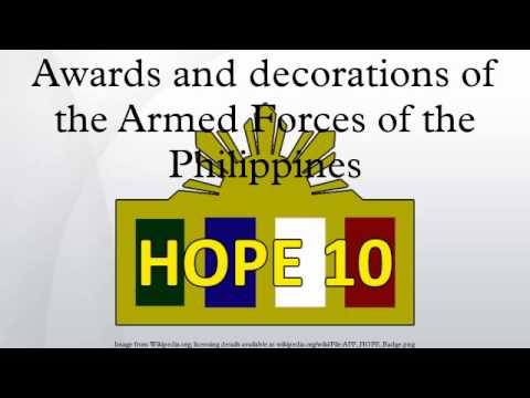 Awards and decorations of the armed forces of the for Awards and decoration