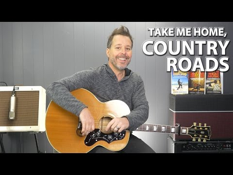 Take Me Home, Country Roads by John Denver - Guitar Lesson