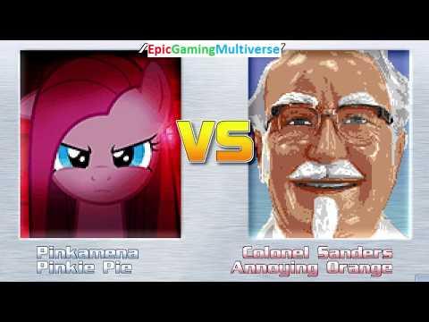 MUGEN Matches / Battles / Fights Of Pinkamena, Pinkie Pie, And The Annoying Orange