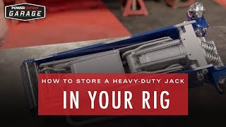 How To Carry A Heavy-Duty Jack In Your Rig