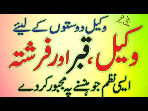 punjabi funny wakeel poem 2017 funny video only for lawyers corruption ik wakeel tha by BEENI NAEEM