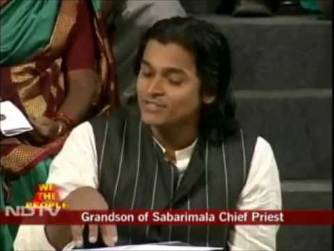 NDTV - We the People - Sabarimala Discussion - Rahul Easwar