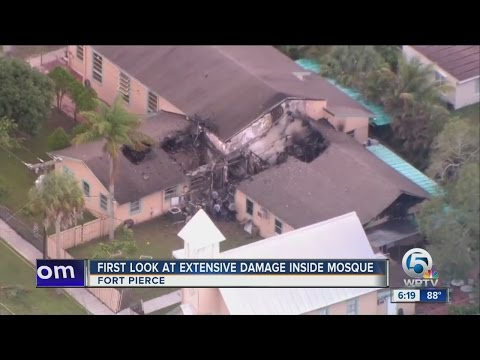 First look at extensive damage inside mosque