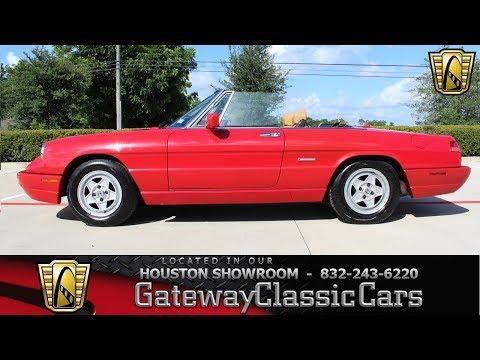 1991 Alfa Romeo Spider Gateway Classic Cars #1276 Houston Showroom