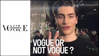 Vogue or Not Vogue? Male models at London Fashion Week |#VogueBackstage
