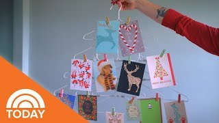 Try This Easy-To-Make Hanger Tree To Display Holiday Cards | TODAY