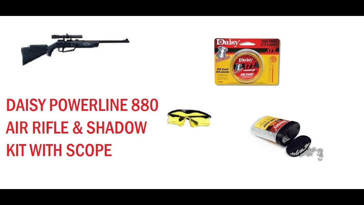 Daisy Powerline 880 Air Rifle with Shadow Kit