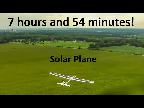 RC Solar plane endurance flight