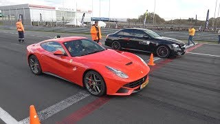 Drag Race Shootout! Ferrari F12, Huracan, Nissan GT-R, Porsche 911 Turbo & More!
