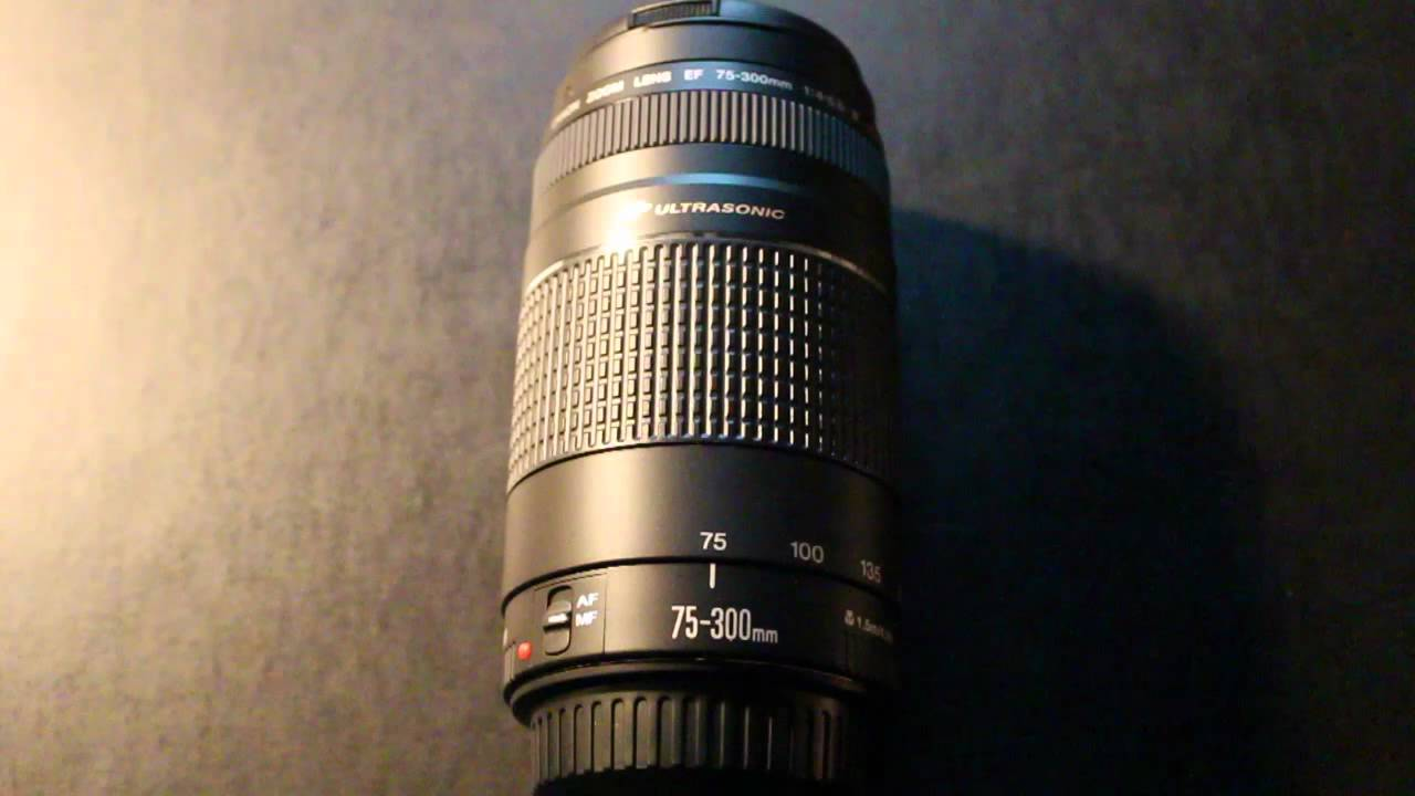 Canon EF 75 300mm F 4 56 III USM Telephoto Zooming Lens