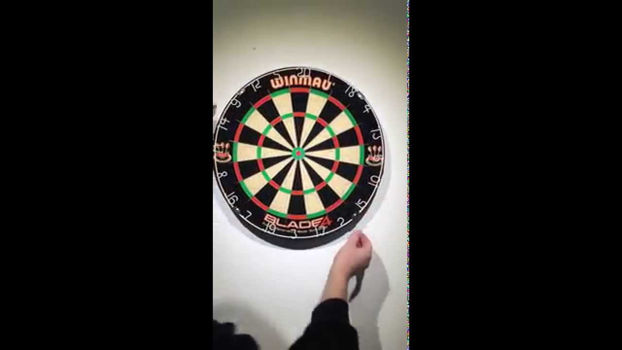 Darts How To Hang A Dartboard At The Correct Height Youtube