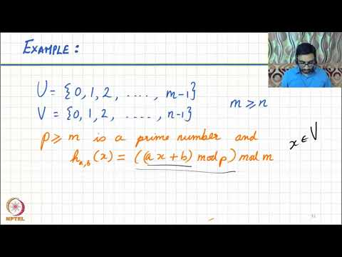 Lesson 29   Universal hash functions