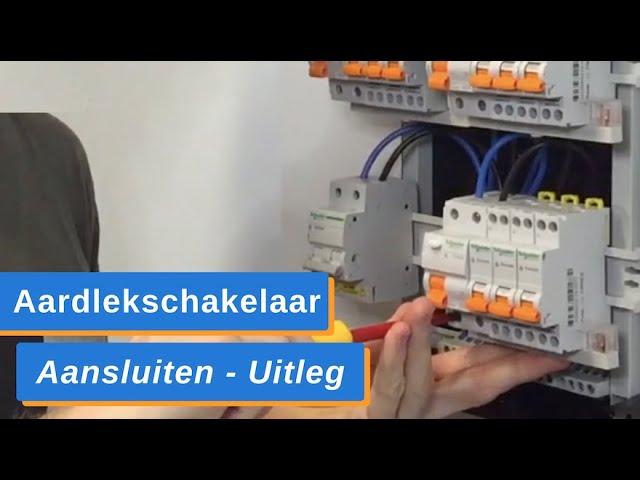 Groepenkast Uitbreiden - AardlekSchakelaar Aansluiten en 3 Groepen Installeren / Monteren - Uitleg