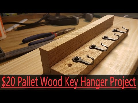 $20 Pallet Wood Key Holder For Etsy or Craft Fairs