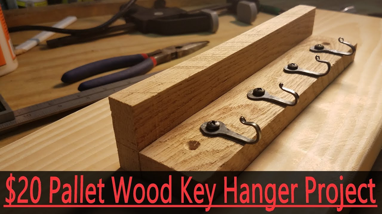 $20 Pallet Wood Key Holder For Etsy or Craft Fairs - YouTube