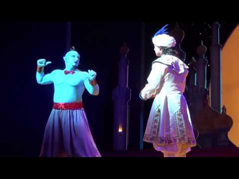 Genie's Jokes and Puns Part 15 - Aladdin A Musical Spectacular at Disneyland Resort (HD)
