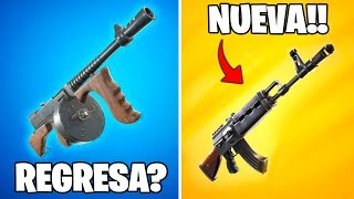 ¿Regresará el Subfusil de Tambor a Fortnite? Nueva Arma AK-47 en Fortnite: battle royale!!