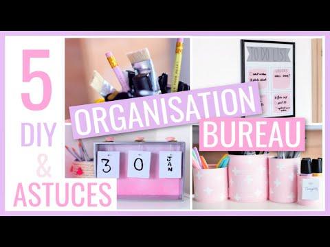 5 DIY & ASTUCES FACILES : BUREAU / Rangement & Organisation