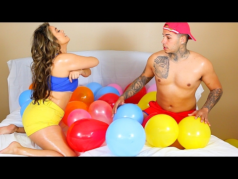 Thumbnail: STRIP BALLOON CHALLENGE PRANK!!