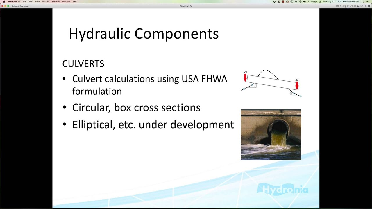 Hydrologic and Hydraulic Simulations with RiverFlow2D