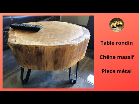Table basse acier et chêne massif  Making A Coffee Table From Steel And Solid Oak