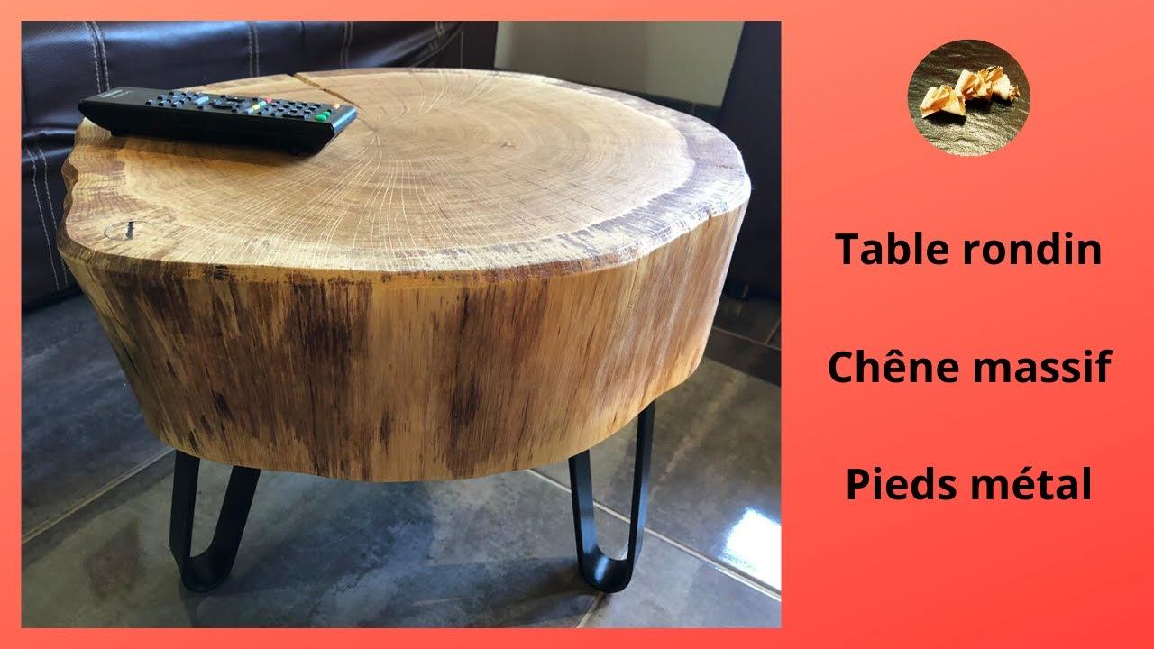 table basse acier et chene massif making a coffee table from steel and solid oak