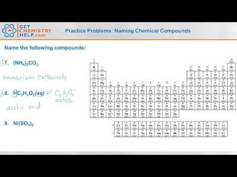 Chemistry Practice Problems: Naming Chemical Compounds - Get