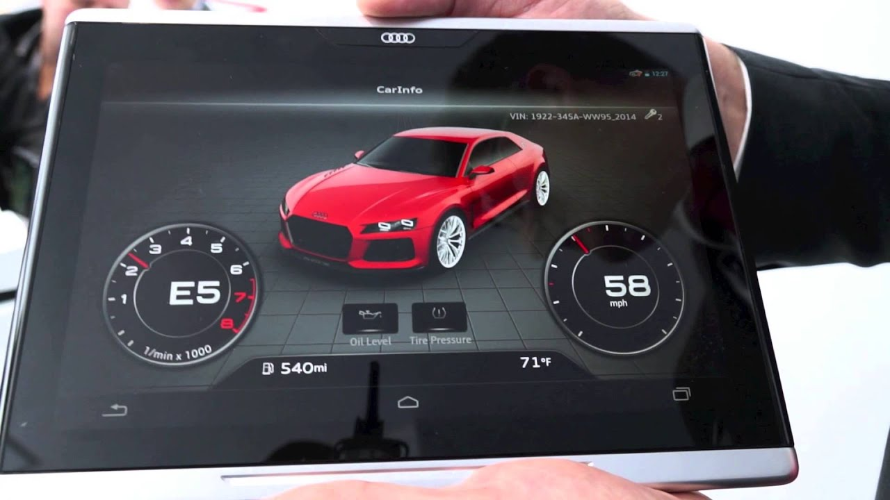 CES 2014: Audi Smart Display mit Google Android [Demonstration und ...