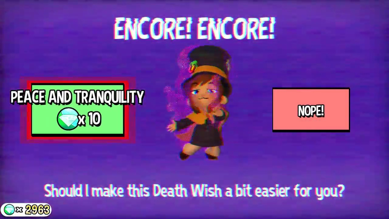 Hat in time peace and tranquility mode