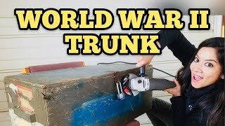 FOUND WW2 MILITARY TRUNK I Bought Abandoned Storage Unit Locker / O...