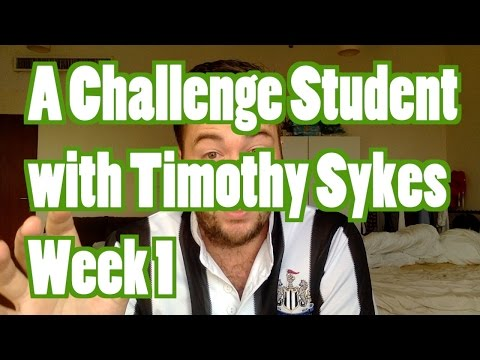 Trading as  a Timothy Sykes Challenge Student Month 1