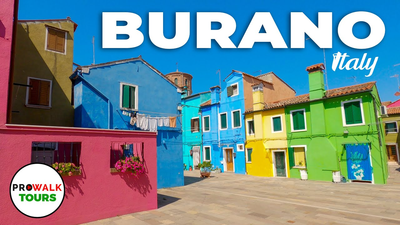Burano, Italy Walking Tour 2020 With Captions - Prowalk Tours - UHD