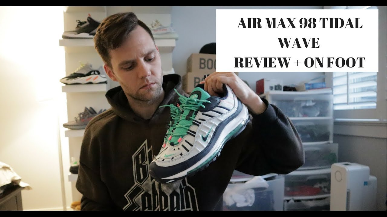 3df5b87bfe6f0b AIR MAX 98 TIDAL WAVE REVIEW + ON FOOT!!! - YouTube