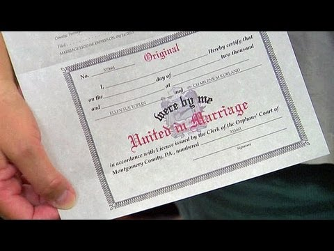 same sex marriage license in pa applicants in Pennsylvania
