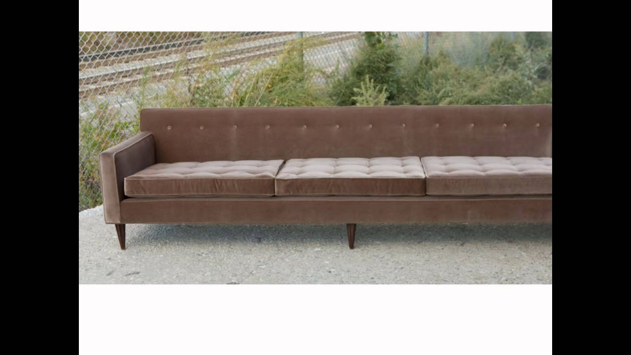 Mid Century Modern Couches mid century modern furniture - youtube