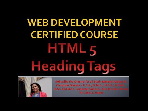 Heading Tags In HTML   Using HR Horizontal Rule In HTML   Website Development Complete Course