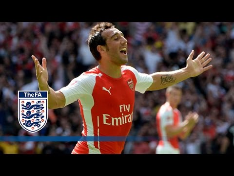 Cazorla goal - Arsenal v Man City 3-0   Goals & Highlights