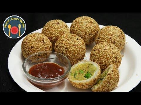 सुबह का नाश्ता ,शाम की चाय या लंच बॉक्स में बनाये Easy Stuffed Cutlet Balls - Seemas Smart Kitchen