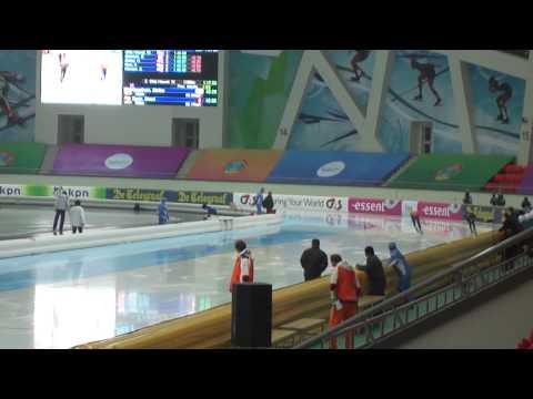 Speed Skating World Cup Astana 2011 November 25th 1500m Stefan GROOTHUIS   Shani DAVIS