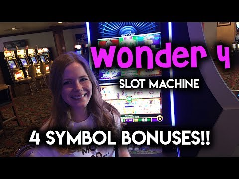 I got 4 Symbol BONUSES on BOTH Games! Wonder 4 Wheel Slot Machine!