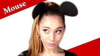 ARIANA GRANDE -  PROBLEM mouse ears look makeup tutorial – Minnie Mouse Halloween make-up tutorial Thumbnail