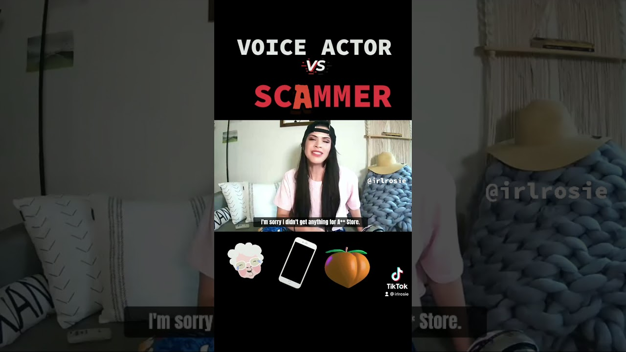 SIRI voice impression vs. a frustrated Scammer! 😆 |#IRLROSIE #shorts #short