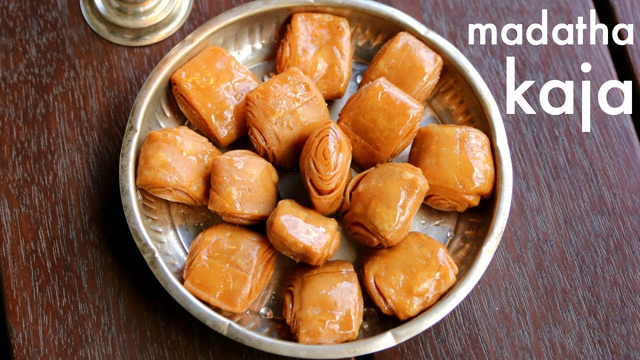 Khaja recipe khaja sweet madatha kaja recipe kaja sweet recipe
