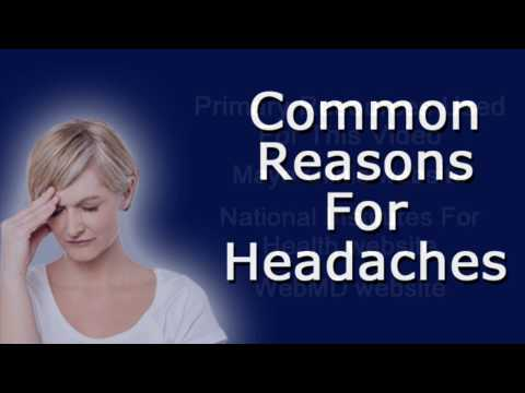 Common Reasons For Headaches